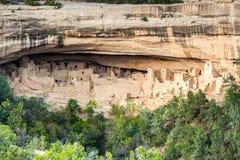 Klippaboningar i Mesa Verde National Parks, Co, USA Royaltyfria Foton