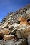 klippafossiljoggins arkivfoton