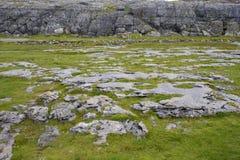 Klippalandskap ireland Arkivbilder