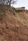 Klippanedgångefterdyning, Sidmouth Royaltyfria Bilder