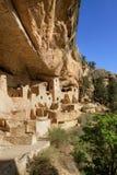 Klippaslott, nationalpark för Mesa Verde Arkivbilder