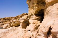klippbrants- grottalimestone Royaltyfri Bild