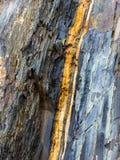 Klippe in einem Steinbruch Stockbild