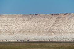 Klippe am Rand der Ustiurt-Hochebene, Kasachstan Stockbilder