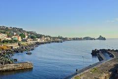 Klippe von Acireale, Catania, Italien Stockfotografie
