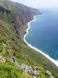 Klippe von Ponta tun Pargo im Atlantik bei Madeira stockfoto