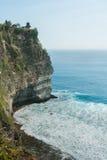 Klippe von Uluwatu-Tempel in Bali, Indonesien Lizenzfreies Stockbild