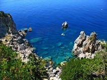 Klippen 3 van Korfu stock afbeelding