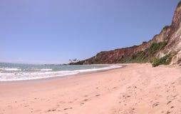 Klippen auf dem Strand von Jacumã Lizenzfreie Stockfotografie