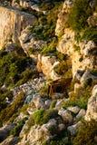 Klippen auf Kosten Maltas Lizenzfreies Stockbild