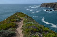 Klippen bei Costa Vicentina Natural Park, südwestliches Portugal stockfotografie
