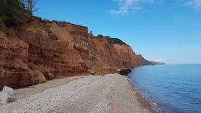 Klippen bei Sidmouth Großbritannien stockbilder