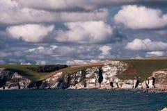 Klippen in Bigbury, Devon, het UK Royalty-vrije Stock Afbeelding