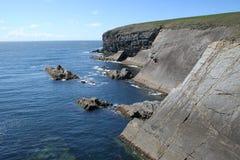 Klippen bij het Hoofd van de Lijn, Ierland Royalty-vrije Stock Fotografie