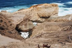 Klippen bij Kaap Kiwanda Royalty-vrije Stock Afbeelding