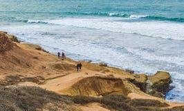 Klippen bij Point Loma in San Diego, Californië Stock Foto's