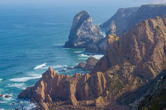 Klippen in Cabo DA Roca royalty-vrije stock afbeeldingen