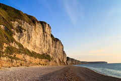 Klippen dichtbij Etretat en Fecamp, Normandië, Frankrijk Royalty-vrije Stock Foto
