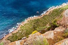 Klippen en kust Stock Afbeelding