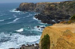 Klippen en stranden in Costa Vicentina Natural Park, Zuidwestelijk Portugal Stock Foto