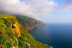 Klippen, het westenkust van Madera, Portugal Stock Fotografie