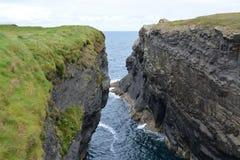 Klippen in Ierland Royalty-vrije Stock Foto's