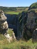 Klippen in Normandië, Frankrijk Royalty-vrije Stock Foto