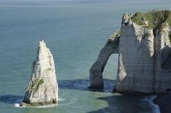 Klippen in Normandie Lizenzfreies Stockfoto