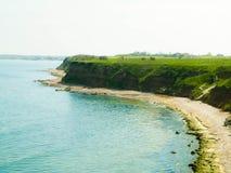 Klippen op coas van de Zwarte Zee stock foto