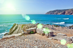 Klippen und Felsen auf der Atlantik-Küste Stockfoto