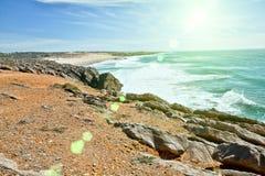 Klippen und Felsen auf der Atlantik-Küste Stockfotos