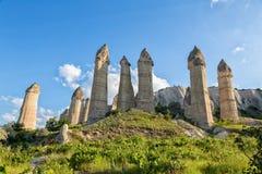 Klippen van Cappadocia royalty-vrije stock afbeelding