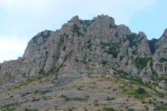 Klippen van de Krimbergen Royalty-vrije Stock Afbeelding