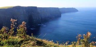 Klippen van Moher - Ierland Royalty-vrije Stock Foto's