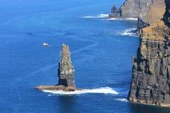 Klippen van Moher - Ierland Stock Afbeelding