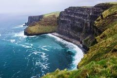 Klippen van Moher-landschap, Ierland, Europa stock foto
