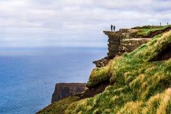 Klippen van Moher-landschap, Ierland, Europa stock foto's