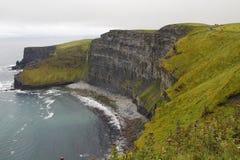 Klippen van moher in mede Clare , Ierland Royalty-vrije Stock Afbeeldingen