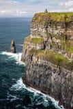 Klippen van Moher in Provincie Clare, Ierland stock foto