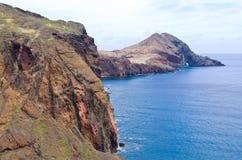 Klippen van Ponta DE Sao Lourenco schiereiland - het eiland van Madera Stock Afbeelding