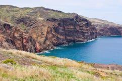 Klippen van Ponta DE Sao Lourenco schiereiland - het eiland van Madera Royalty-vrije Stock Foto's