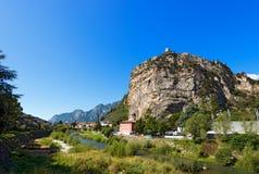 Klippen von ACRO di Trento - Trentino Italien Lizenzfreie Stockfotos