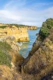 Klippen von Algarve Lizenzfreies Stockfoto