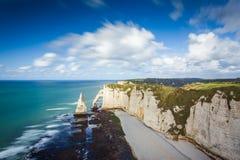 Klippen von Etretat, Frankreich Lizenzfreie Stockfotos