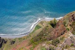 Klippen von Gabo Girao in Madeira-Insel, Portugal Stockfotografie