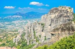 Klippen von Meteora, Griechenland Stockbild