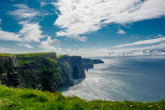 Klippen von Moher in Irland Stockfotos