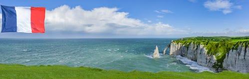 Klippen von Normandie lizenzfreie stockfotografie