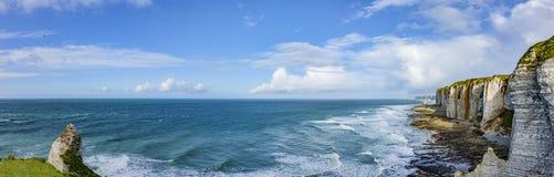Klippen von Normandie stockbild