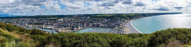 Klippen von oberer Normandie Stockfoto